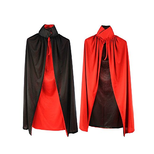 Nine States Adults' Vampire Cape Red And Black front-804475