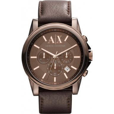 Armani Exchange AX2090 Mens BANKS Chronograph Brown Watch