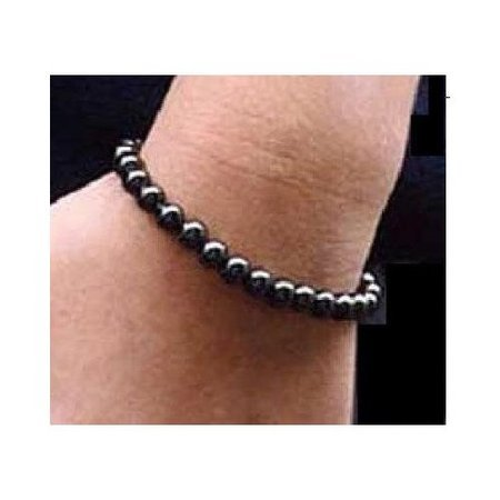 Women's Hematite Magnetic Bead Bracelet