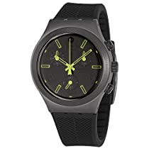 Swatch Irony Ray of Light Black Dial Chronograph Silicone Mens Watch YCM4000V