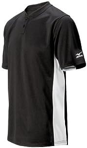Buy Mizuno Mens 2 Button Color Block Short Sleeve Baseball Jersey by Mizuno