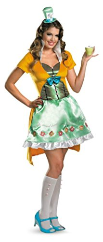 Disguise Womens Disney Mad Hatter Sassy Alice In Wonderland Halloween Costume