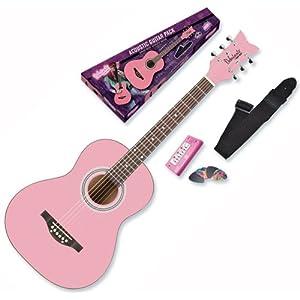 Daisy Rock Debutante Junior Miss Acoustic Bubble Gum Pink Guitar Starter Pack