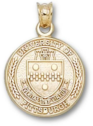 Pittsburgh Panthers Seal Pendant - 14KT Gold Jewelry by Logo Art