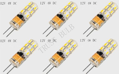 TRUST 6pcs/Set 4-Wat LED/JC/12WW Low Voltage LED Miniature JC Bi-Pin Light, Jc10 Bi-pin 20W Holagen Replacement Warm White (Types Of Trusts compare prices)