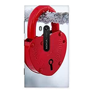 Luxirious Red Lock Multicolor Back Case Cover for Lumia 920