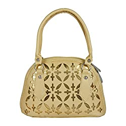 EDGEKART PU Leather Handbags For Women - Gold