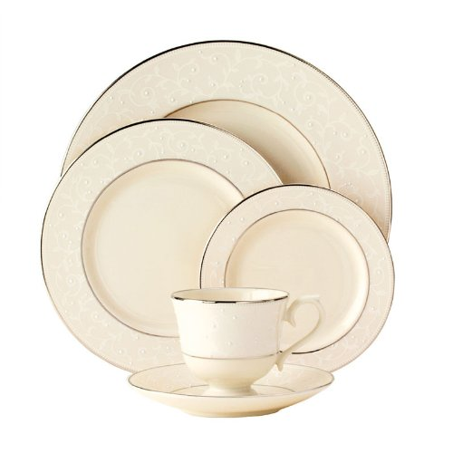 Lenox Pearl Innocence Twelve 5 Pc Place Settings