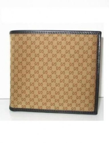 Gucci 150404 Men Wallets Brown
