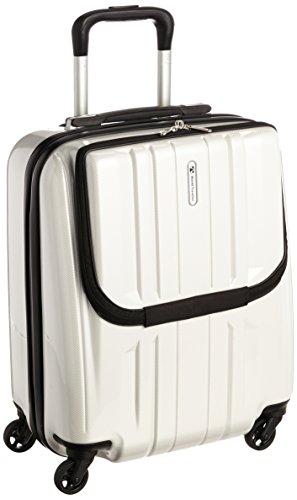 [ワールドトラベラー] World Traveler アマゾン限定 ACEコラボ特別企画 ペンタクォーク ストッパー付スーツケース46cm・32リットル・TSAロック搭載・機内持ち込みサイズ 05661 06 (ホワイトカーボン)