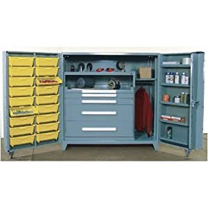 """Amazon.com : 60"""" Wide Cabinet w/ 45"""" W Modular Drawers and ..."""
