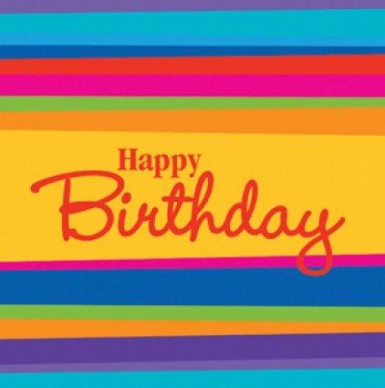 Birthday Stripes Lunch Napkins 16ct - 1