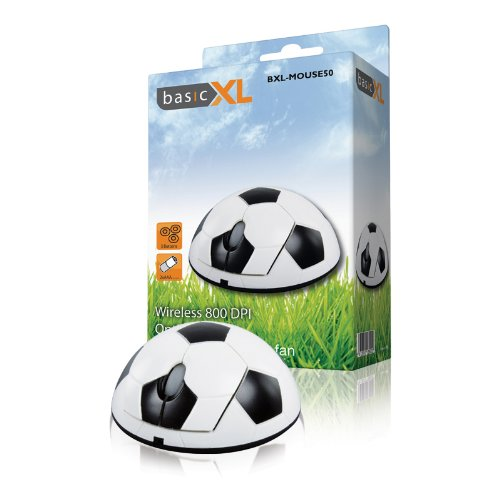 BasicXL Optical Wireless Football Mouse [BXL-MOUSE50]