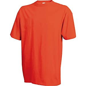 Russell Athletic Men's Crew Neck Tee, Tennessee Orange, Small