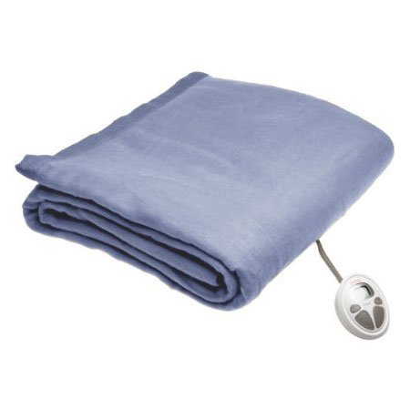 Sunbeam Twin Imperial Nights Electric Heated Warming Heating Blanket, Glacier Blue