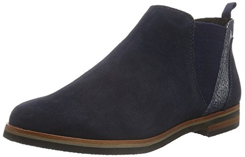 Caprice25301 - Stivaletti a gamba corta mod. Chelsea, imbottitura leggera Donna , Blu (OCEAN SUE COMB 881), 40