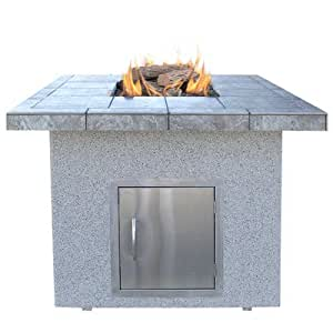 Calflame dining height gas fire pit outdoor for Amazon prime fire pit