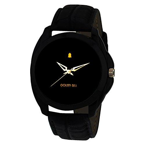 #8: Golden Bell Analogue Black Dial Men's Watch-GB-201Blk
