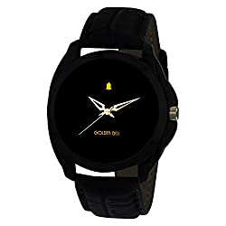Golden Bell Analogue Black Dial Men's Watch-GB-201Blk