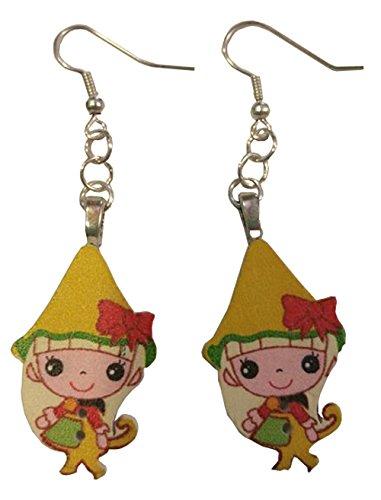 Anime Elf Yellow Dangle Earrings ()
