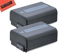 Pack Of 2 NP-FW50 Batteries for Sony Alpha SLT-A33 SLT-A35 SLT-A37 SLT-A55 Digital SLR Camera + More!!
