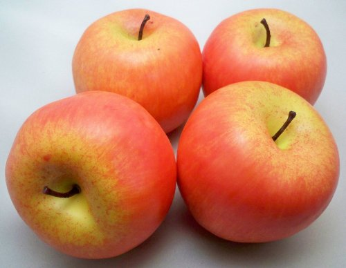 4 Large Artificial Red Apples Decorative Fruit by Best Artificial