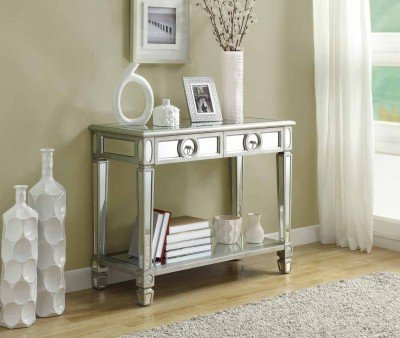 Cheap Monarch Mirrored 38in Long Sofa Console Table With 2 Drawers I 3700 (I 3700)
