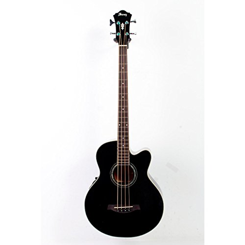 Ibanez Aeb10E Acoustic-Electric Bass Guitar With Onboard Tuner Gloss Black 888365239804