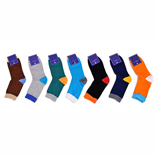 Deer Mum 6 Pairs Men'S Fashion Design Bright Color Socks (Pack 6) front-173737