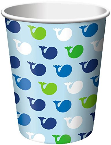 Ocean Preppy Boy Hot or Cold Beverage Cups, 8-Count (Pack of 3)