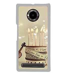 I Love you candles 2D Hard Polycarbonate Designer Back Case Cover for YU Yuphoria :: YU Yuphoria YU5010