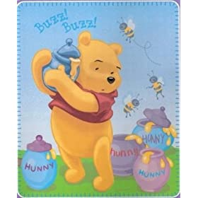 Winnie the Pooh Honey fleece blanket throw NEW