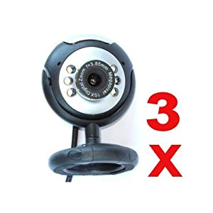 Neewer 3x 5 MP USB 6 LED PC Webcam Camera plus + Night Vision MSN, ICQ, AIM, Skype, Net Meeting and compatible with Win 98 / 2000 / NT / Me / XP / Vista