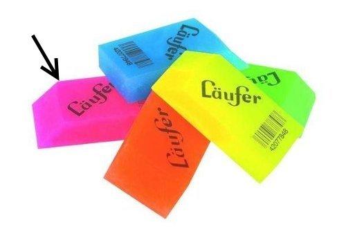 Läufer Kunststoff-Radierer Transluzent, farbenfrohe Radierer (Rosa)