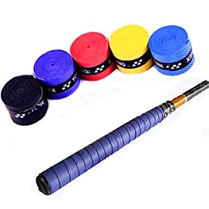 Buy 5pc Absorb Sweat Stretchy Tennis Band Grip Tape Fish Rods Absorb Sweat Band Wrap by Toolmall