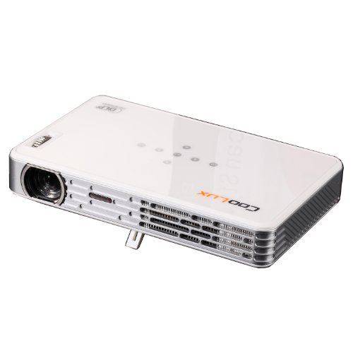 Coolux®X3+Jy Led Mini Dlp 3D Projector Beamer 1000 Lumens 1280*800 Support 1080P For Dvd Player,Pc, Phone,Table Pc Which With Hdmi,Av,Vga,Mhl Interface(White)