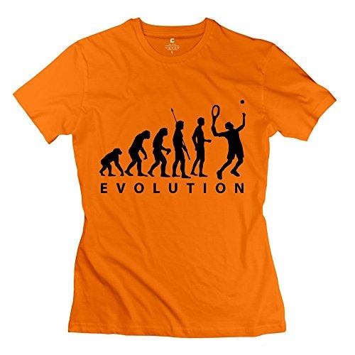 Zhitian Women'S Process Evolution Tennis 1C T-Shirt - M Orange