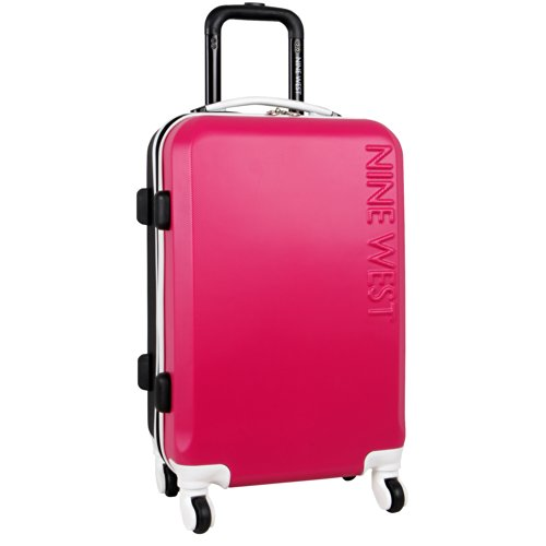 ninewest-fast-track-20-inch-hard-side-spinner-pink-black-one-size
