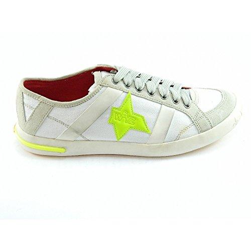 W6YZ - W6YZ scarpe uomo bambino tela bianco sneakers - Bianco, 44