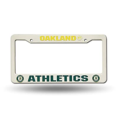 Oakland Athletics Official MLB 12 inch x 6 inch Plastic License Plate Frame by Rico Industries