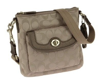 Coach   Coach Campbell Signature Swingpack Silver/Tea F51108 Crossbody