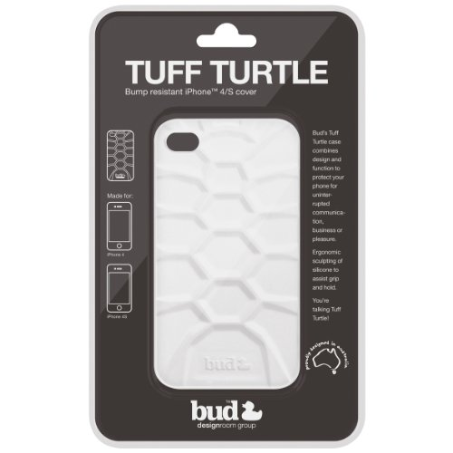 PT Bud Case for iphone 4/ 4s Tuff Turtle Silicone (White)