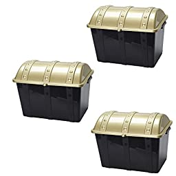 Plastic Treasure Chests - Plastic Treasure Chests For Pirate Games (3 Pack)