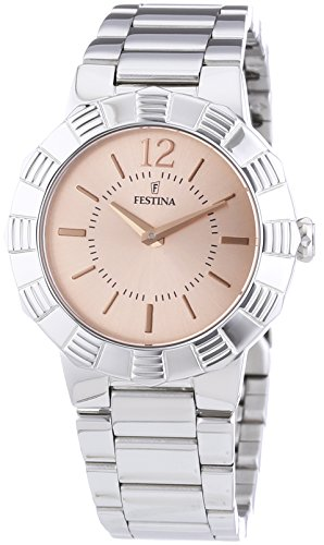 Festina F16730/3 - Reloj de pulsera mujer, acero inoxidable, color plateado