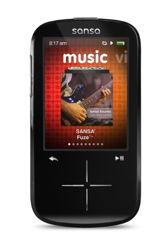 SanDisk Sansa Fuze+ 4 GB MP3 Player (Black)