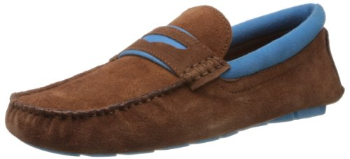 Famozi Famozi Men's Suede Leather Driving Loafers And Mocassins (Violet)