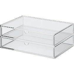 MOMA Muji Acrylic Case 2 Drawers - Large W25.5 x D17x H9.5cm (W10.2 x D6.8 x H3.8