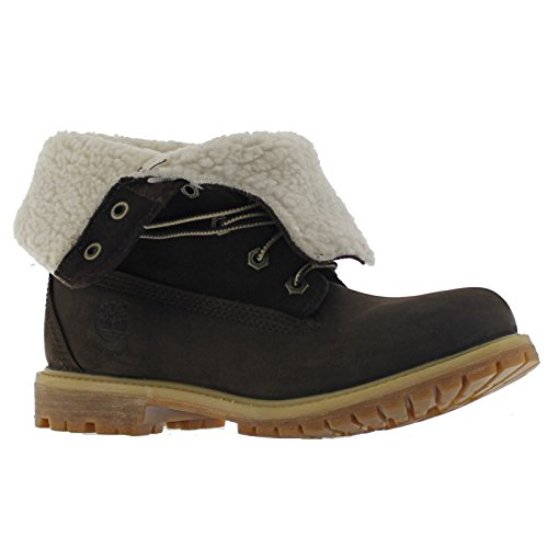 Donna Timberland Authentic Teddy Vello Earth Keepers Ripiegare Stivali, Buio Marrone, 37,5