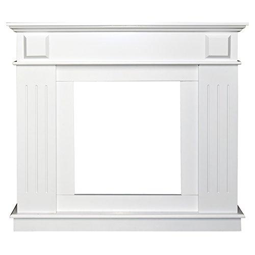 Rebecca Srl Cornice Decorativa Caminetto Decorazione Camino Legno Bianco Stile Tradizionale Soggiorno (Cod. 0-3759)