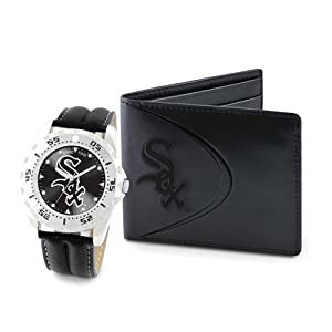 Mens MLB Chicago White Sox Watch & Wallet Set by Jewelry Adviser Mlb Watches